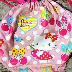 Hello Kitty pink drawstring tote